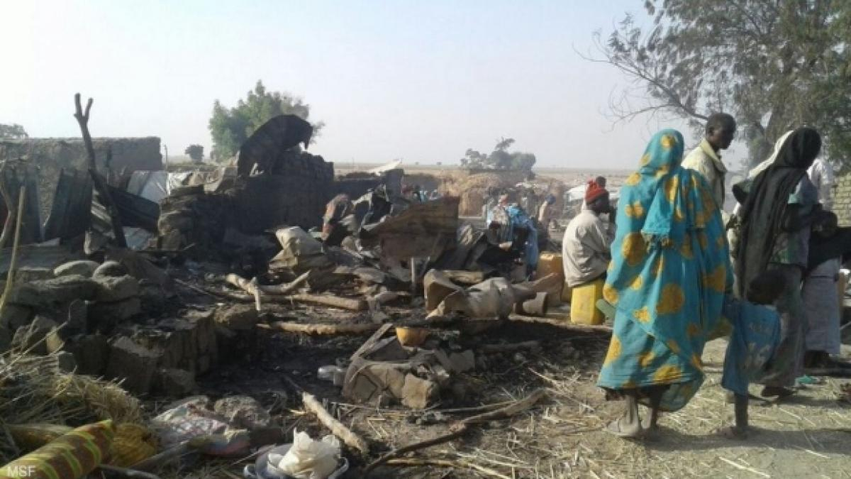 Nigerian Air Force jet mistakenly bombs refugee camp; kills over 100 refugees