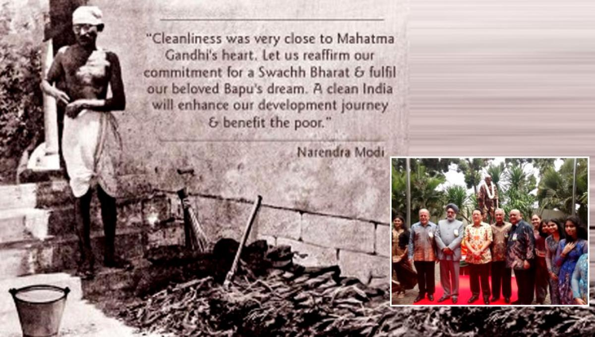 Mahatma Gandhi ideals inspired Swachh Bharat mission