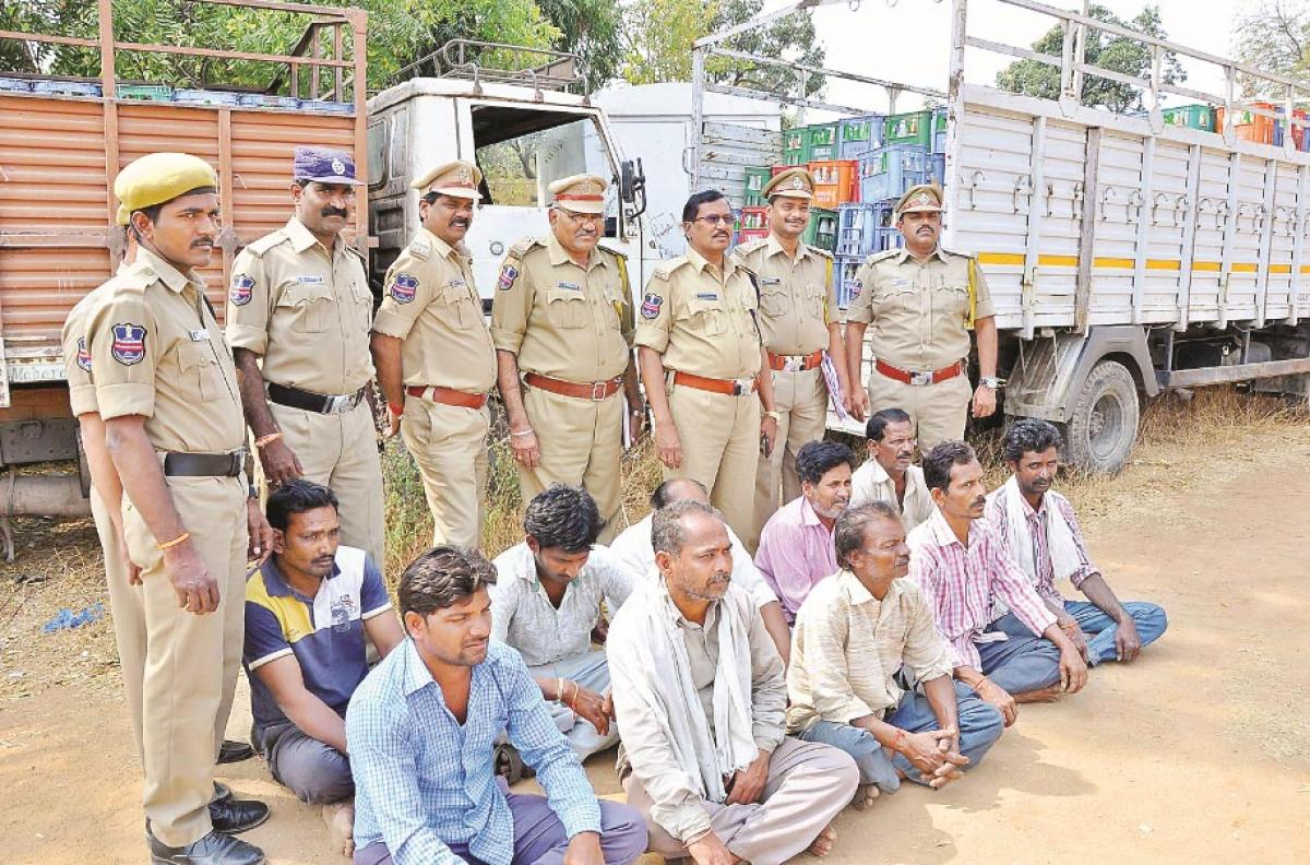 Excise police seize 6,116 litres of spurious toddy