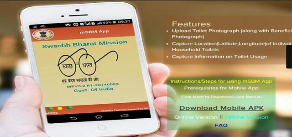 Swachhata app to  fix garbage woes