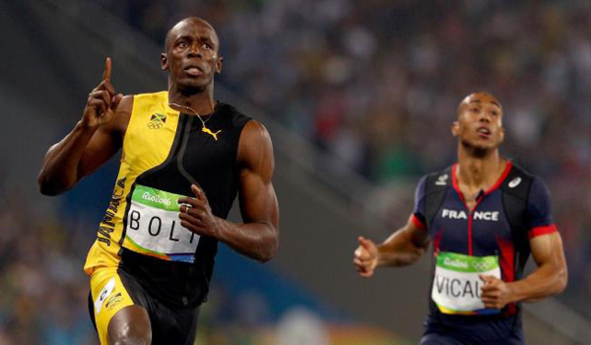 Usain Bolt Qualified fastest in 100m final at Olympic