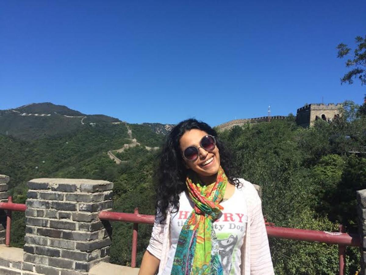 Swara Bhaskar ​at T​he Great Wall Of China