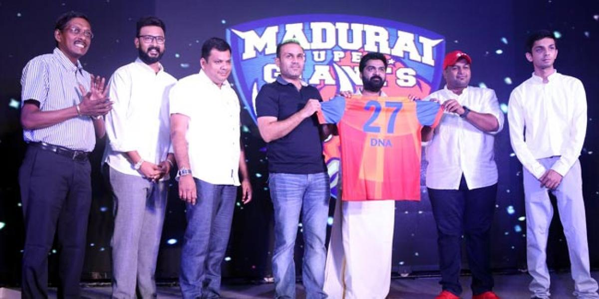 Madurai Super Giants gears up for The Tamil Nadu premier league in the presence of Mr.Virender Sehwag
