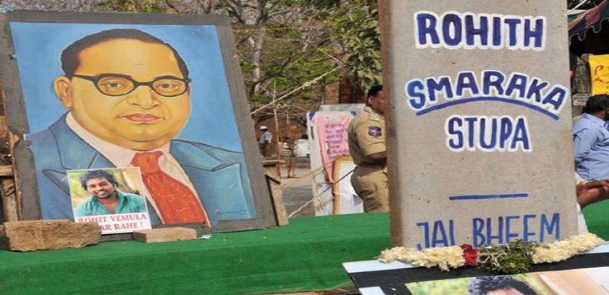 UoH plans to remove Rohith's memorial