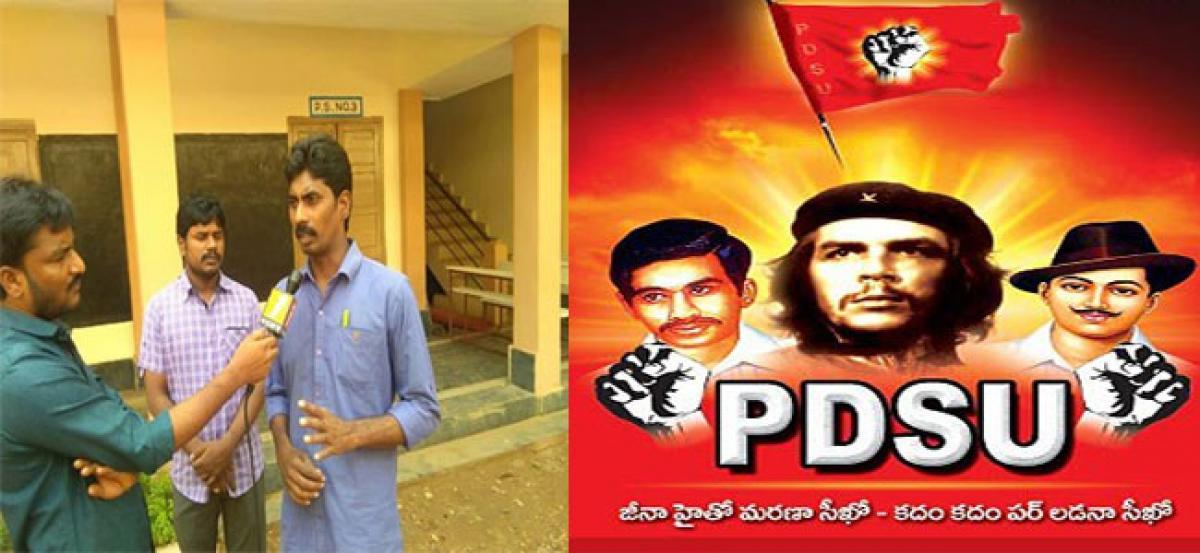 PDSU members burn copies of GOs 29 and 33 in protest