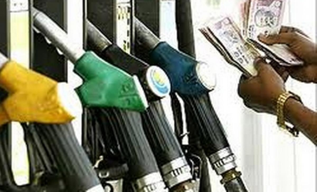 Petrol costs Rs 65.90 a litre in Hyderabad