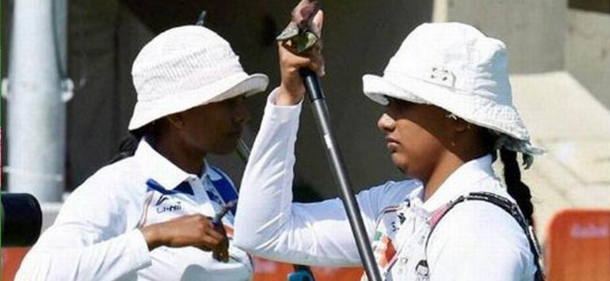 Indian womens archery team beats Colombia to reach Olympics quarters