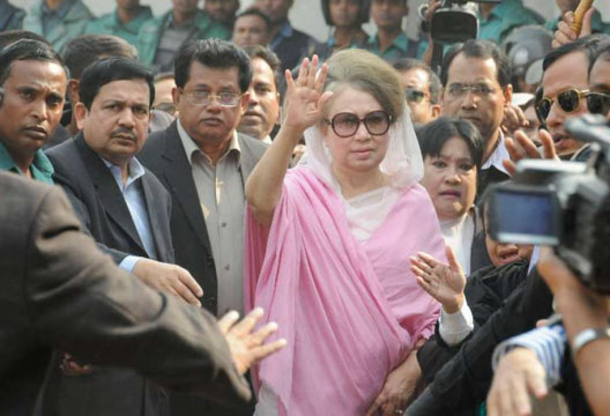 Khaleda Zia appears in court over two graft cases