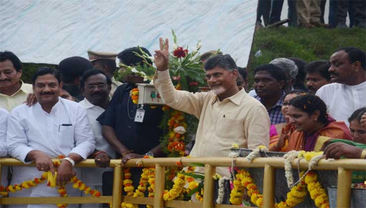 AP CM inaugurates Thotapalli 12 years after laying stone