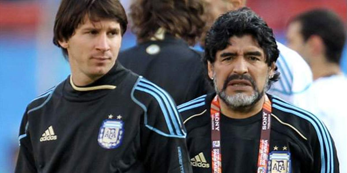 Diego Maradona thinks Messi's retirement was 'staged'