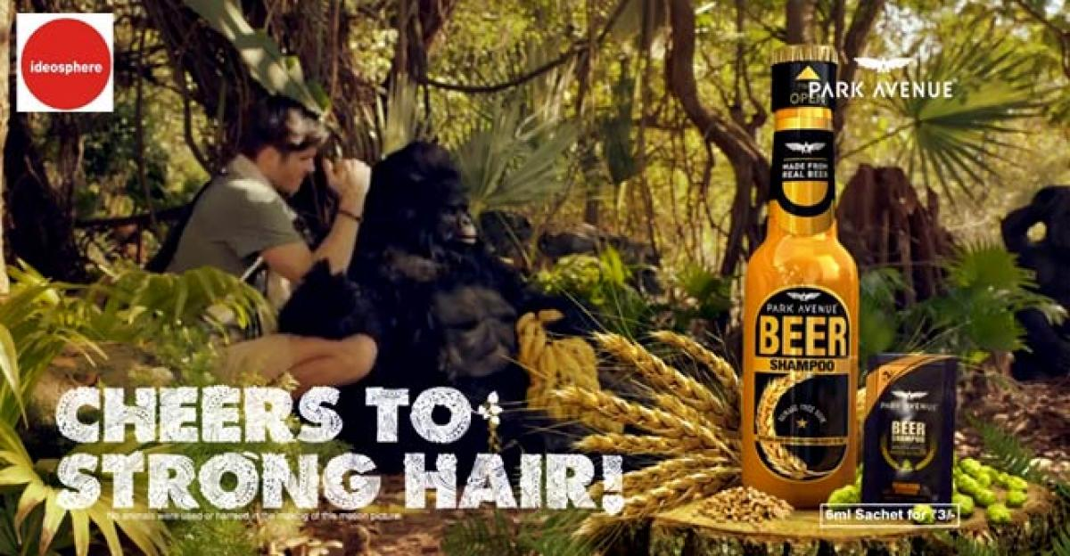 Watch: Park Avenue beer shampoo campaign says cheers to strong hair