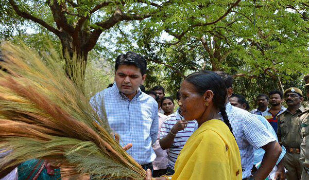 In a first, Collector visits tribal hamlet atop hillock