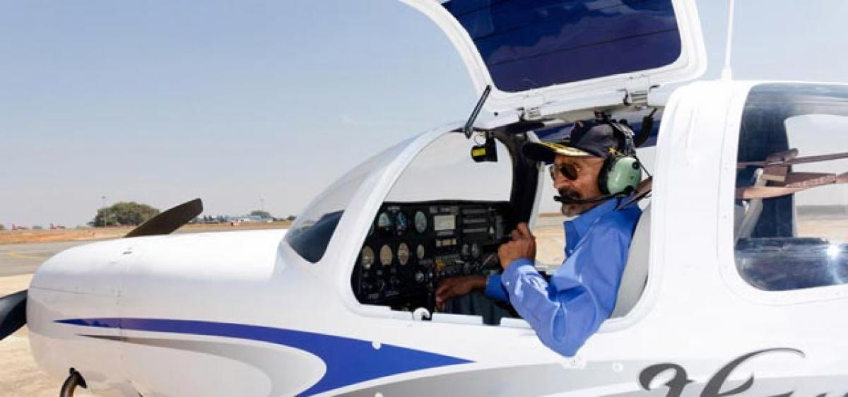Age no bar for this sprightly 81-year-old pilot