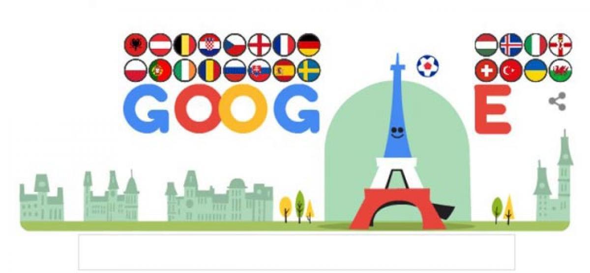 Goodle Doodle marks start of UEFA Euro