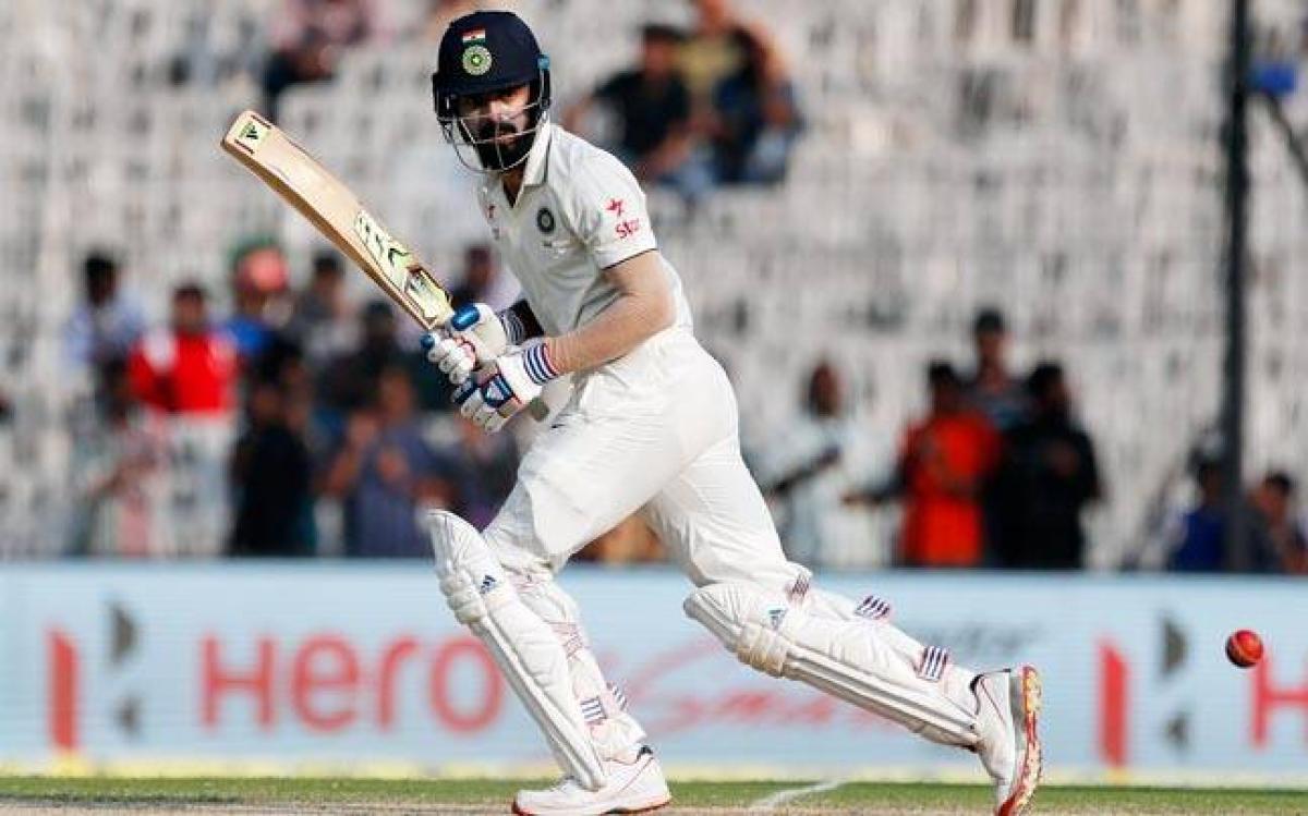 Rahuls hundred takes India to 256/3 at tea