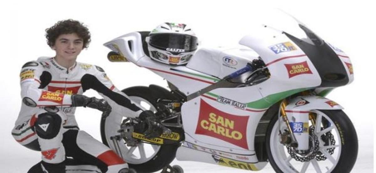 Bagnaia secures Mahindra Moto3 teams maiden GP win.