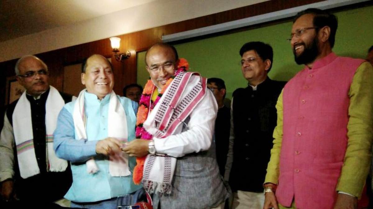 Manipur Guv invites BJPs Biren Singh to form govt; swearing in today