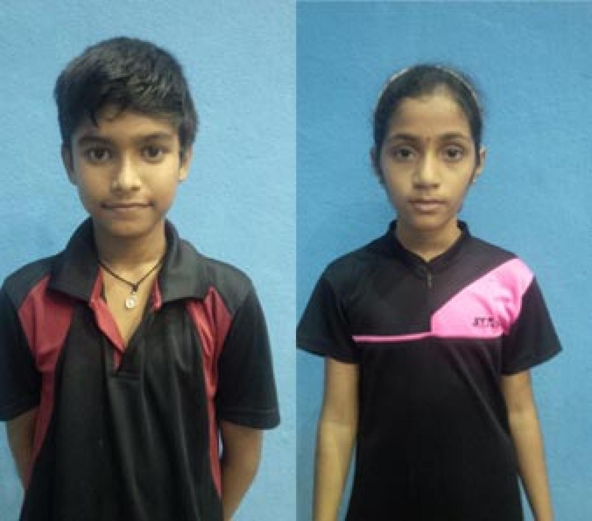Karthikeya, hasini win  table tennis tittles