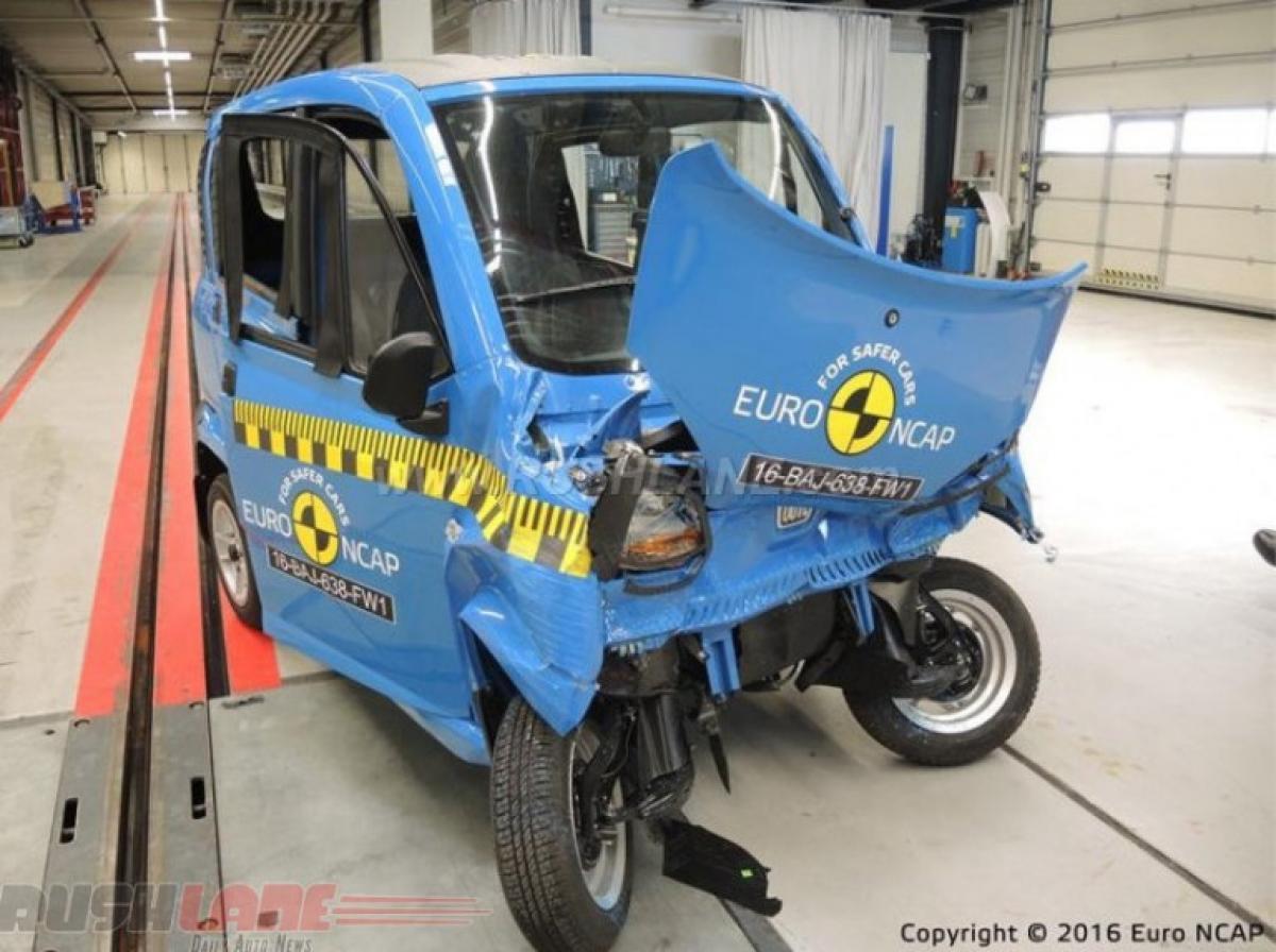 Watch: Bajaj Qute crash test video