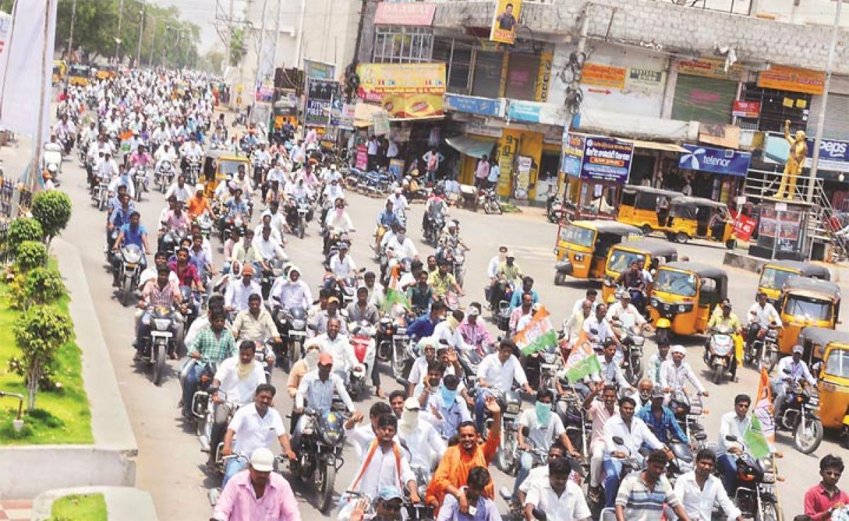 Bike rally held on Ambedkar Jayanti