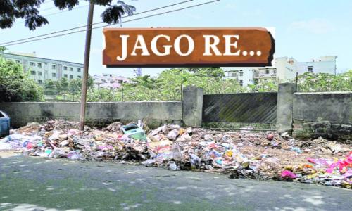Garbage eyesore near Yellamma temple