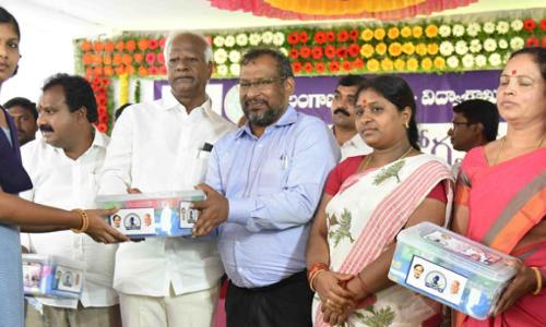 Health and Hygiene kits scheme launched by Minister Kadiyam Srihari