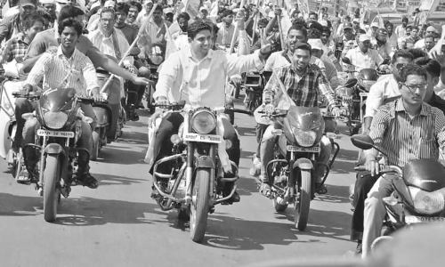 TDP winds up poll drive with bike rally