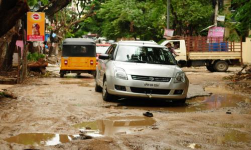 Potholes mar flow of traffic