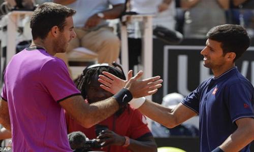 Novak Djokovic downs Potro, enters Italian semis