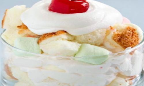 Angles of Layers- Ambrosia Trifle Pudding