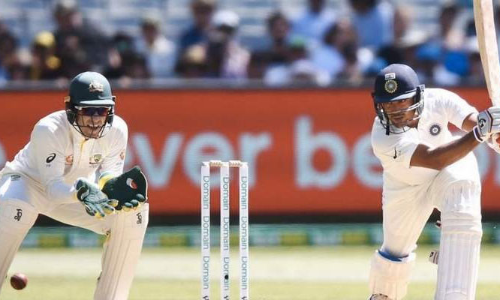 India reach 57/1 at lunch on Day 1 of 3rd Test