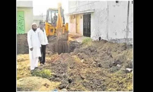 Drainage outlet works begin at Bismillah Colony