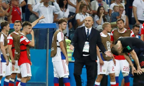 Russia coach 'pleased' after valiant effort from hosts in FIFA World Cup 2018