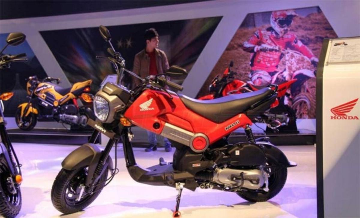 Honda Navi 110 cc moto-scooter launch at 2016 Auto Expo