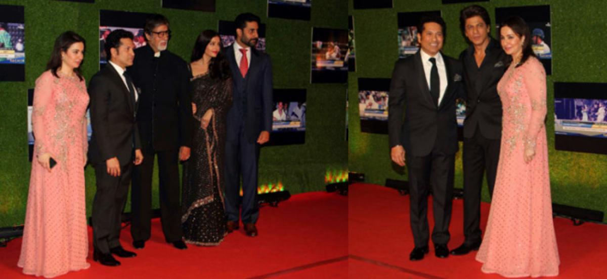 Star-studded evening for Tendulkars biopic