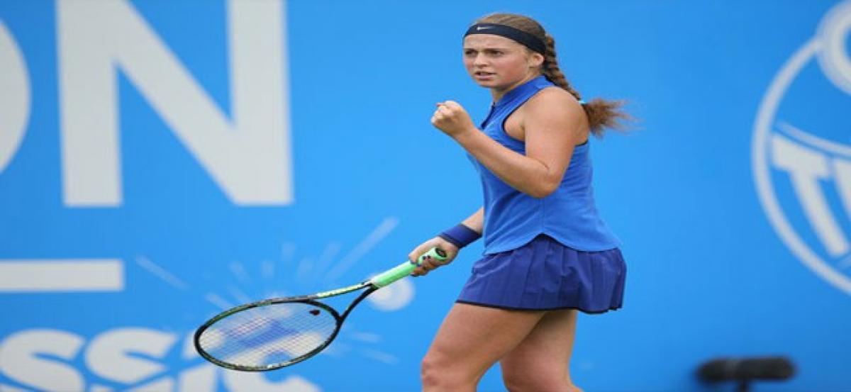 Birthday girl Jelena in singles final