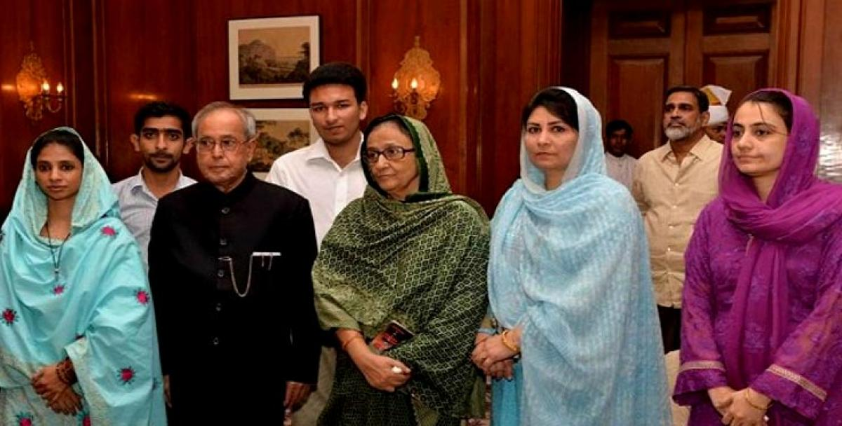 You are the daughter of both India, Pakistan, a symbol of unity: Pranab Mukherjee