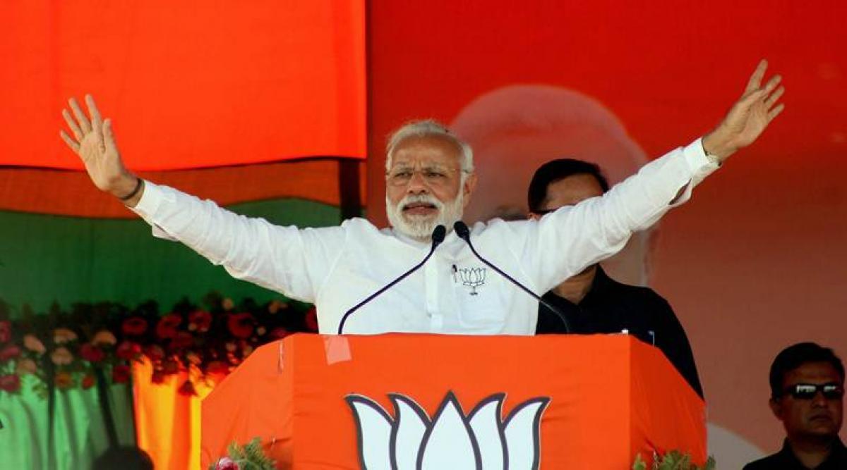 Modi supporters celebrate Uttar Pradesh poll victory in US
