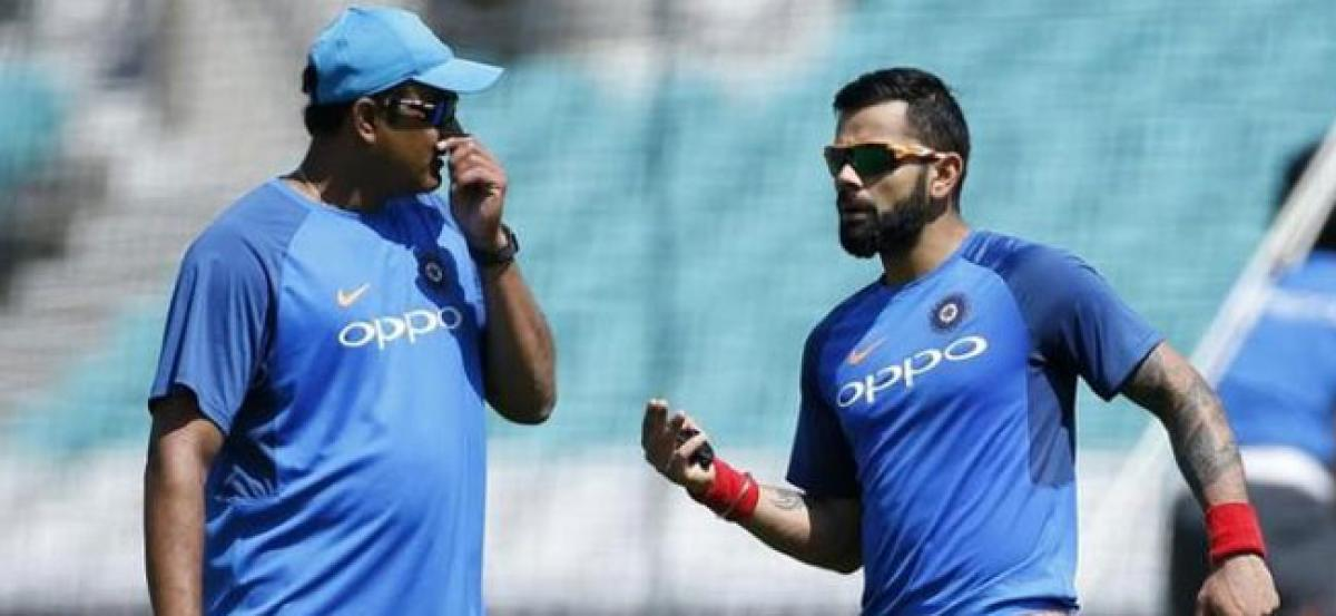Virat Kohli steers clear of respected Kumbles departure