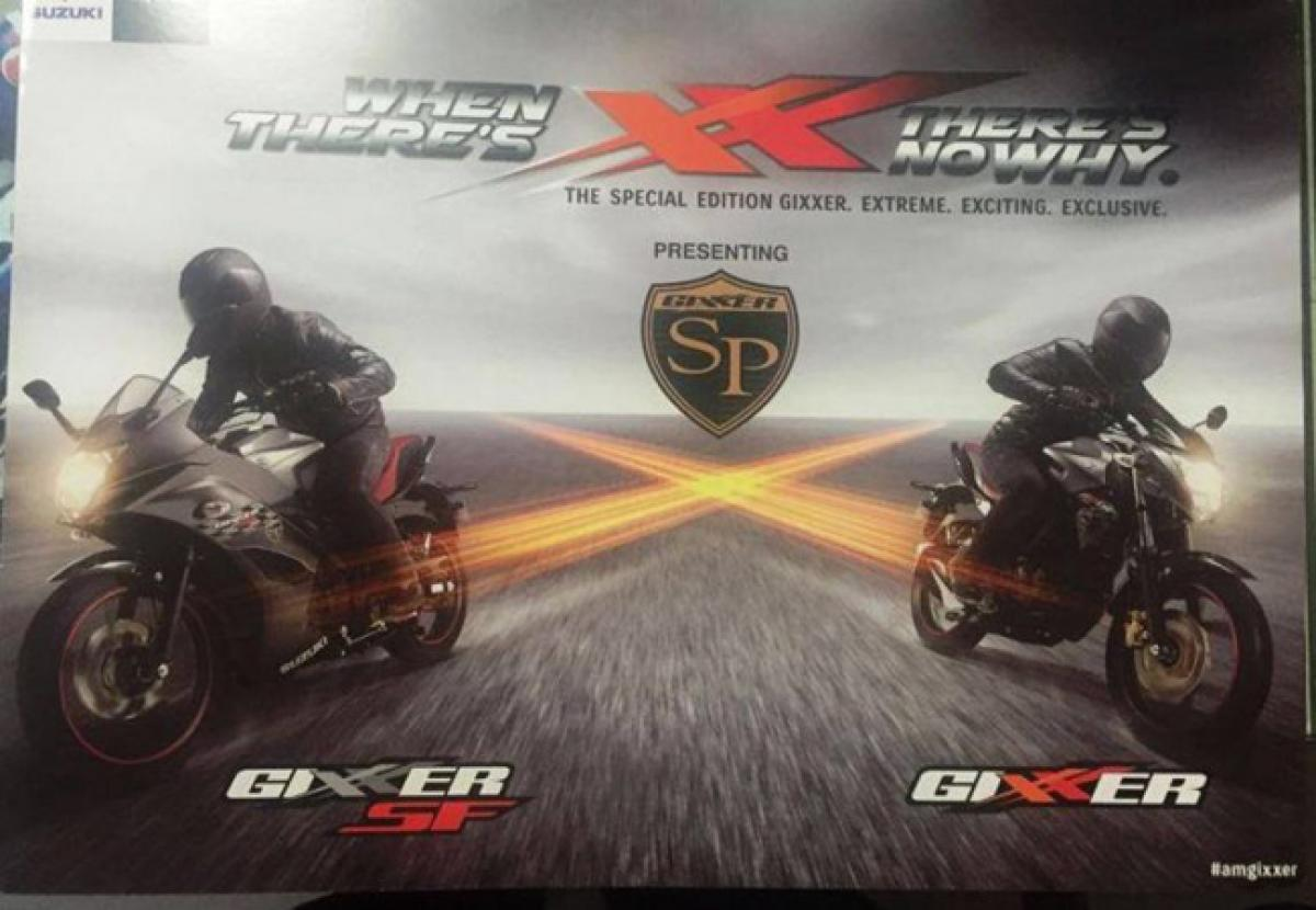 Suzuki to launch Gixxer SP and Gixxer SF SP editions