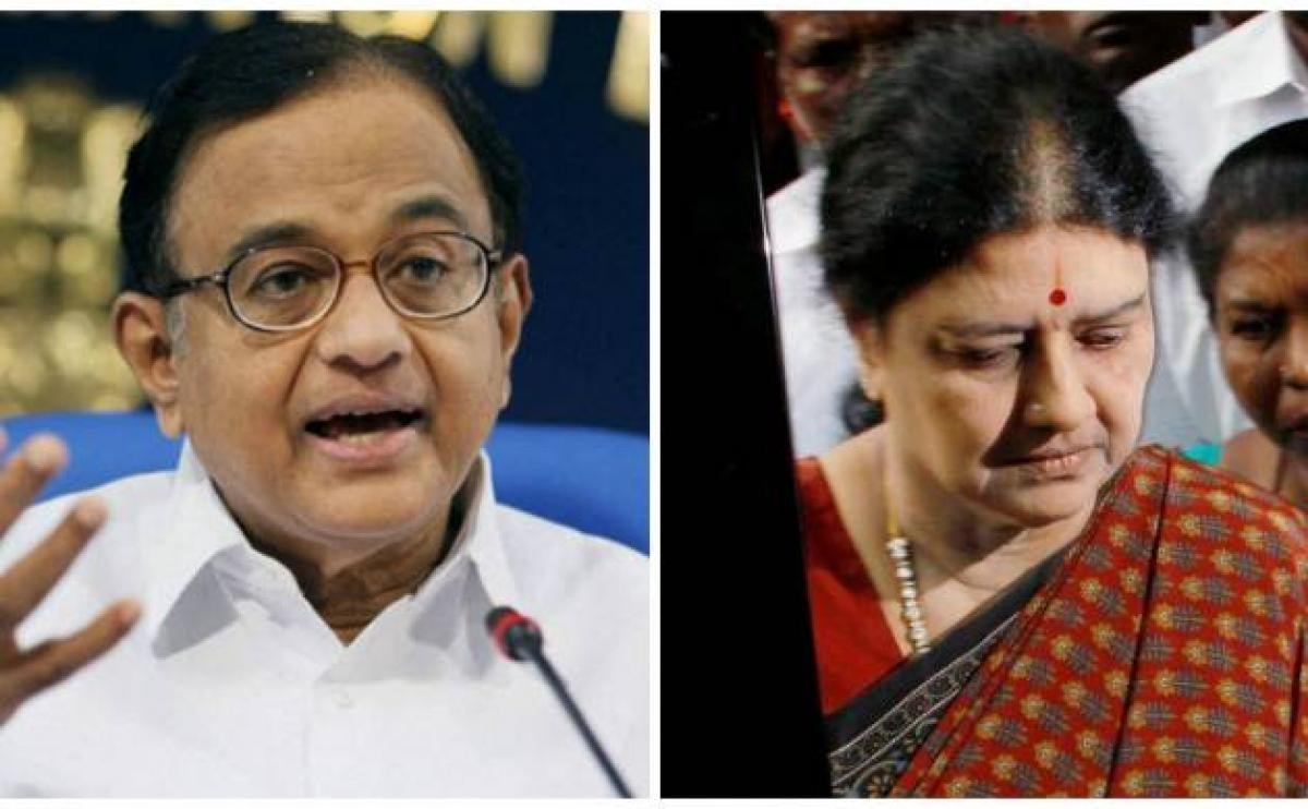 Sasikala would be unacceptable to most people in the state: Chidambaram