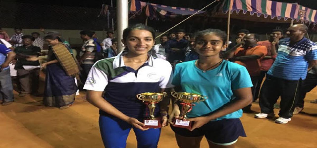 Dedeepya bags doubles title