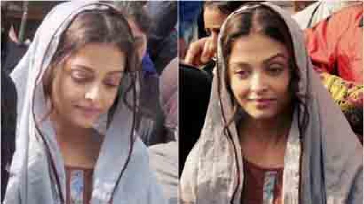 New look: Aishwarya Rai Bachchan visits Golden Temple for Sarbjit