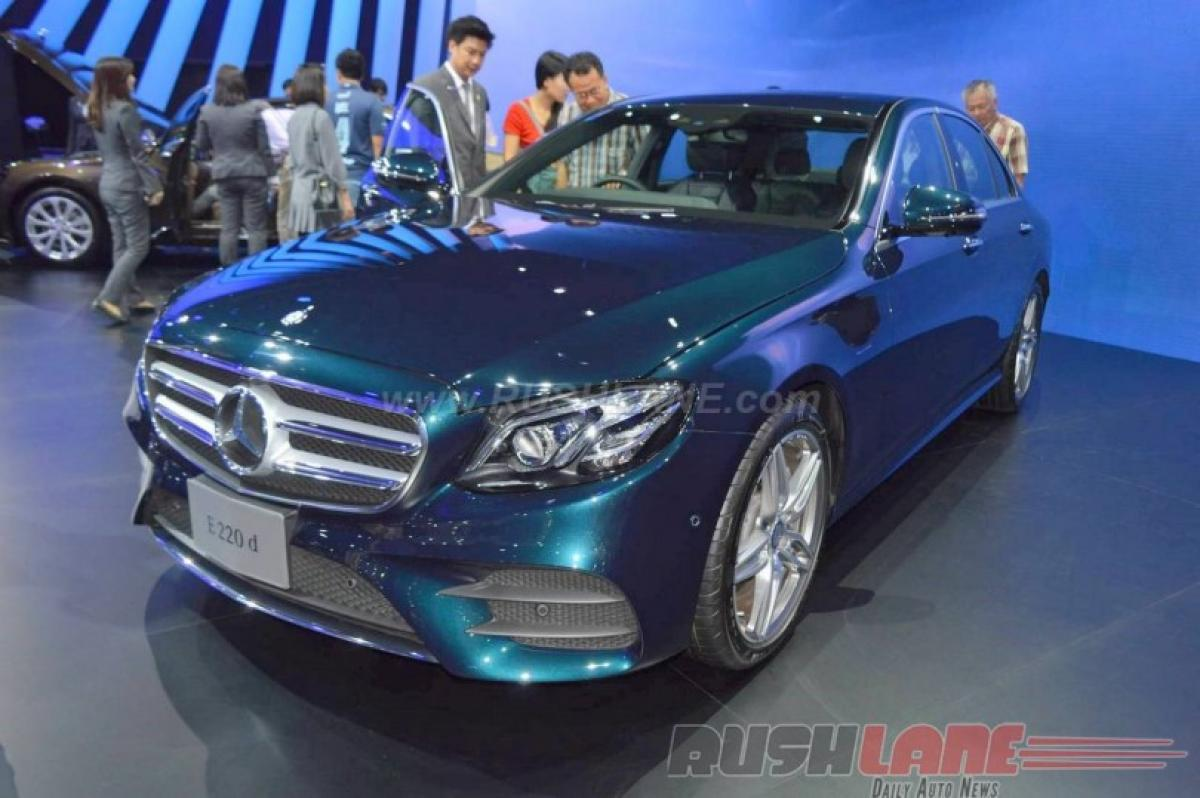 A peek into New Mercedes E220d at Bangkok Motor Show