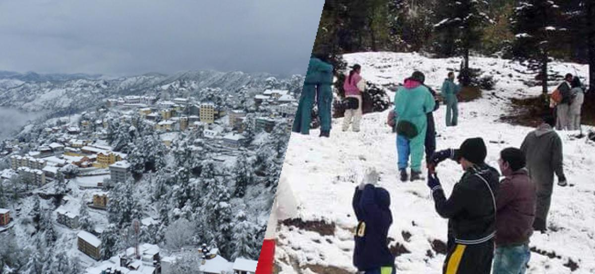 Snow gives Shimla a picturesque look