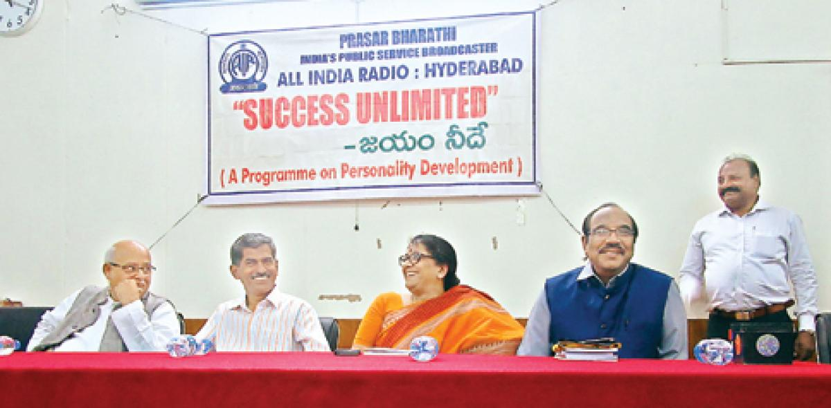 All India radio organises Success Unlimited program in  University College for women