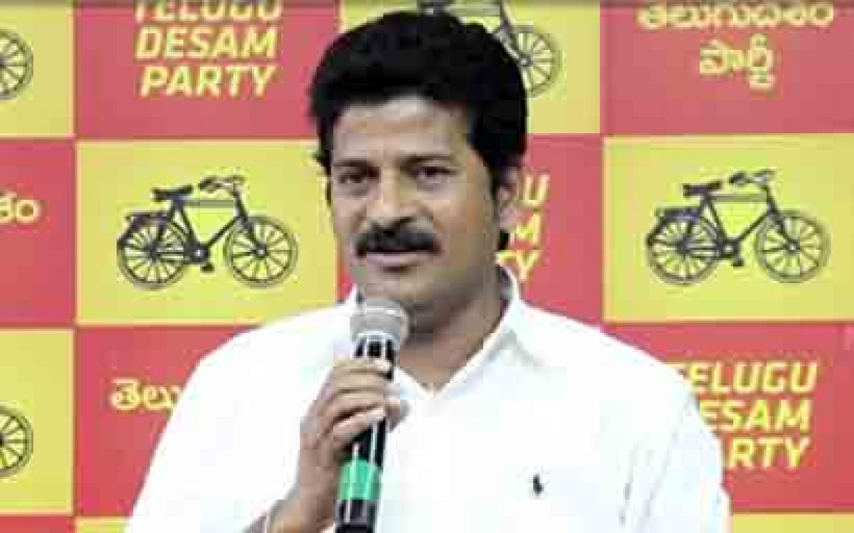 Revanth Reddy writes letter to Speaker demanding disqualification of TDP MLAs