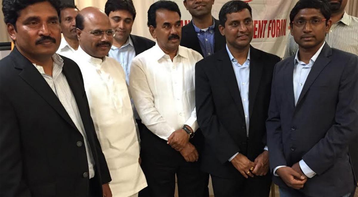 NRI wing of TITA accord red carpet welcome to Jupally Krishna Rao in Washington