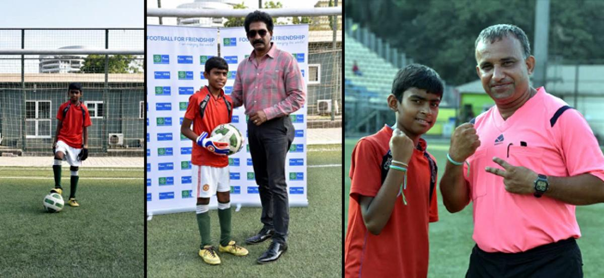 12 year old kid selected to represent India at Football for Friendship programme in Russia