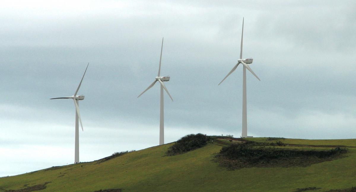Galapagos Islands powered by wind turbines